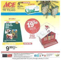 Red Hot Buys for January 2014 Bird Suet, Wild Bird Feeders, Black Oil Sunflower Seeds, Ace Hardware, High Energy, Wild Birds, Squirrel, January, Hot