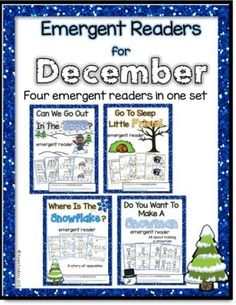 "These emergent readers are a wonderful resource for December/Winter themes.   They include the following titles:  ""Can We Go Out In The Snow?"" (getting ready to go outside)  ""Go To Sleep Little Friend"" (animals that hibernate)  ""Where Is The Snowflake?"" (all about opposites)  ""Do You Want To Make A Snowman?"" (sequencing the making of a snowman)  $4.00"