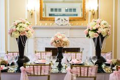 Coco Chanel themed black and pink wedding