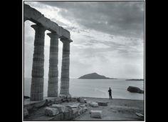 Robert McCabe. Sounion 1955. At the temple of Poseidon.