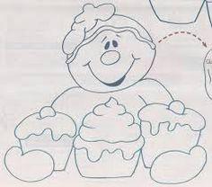 Resultado de imagem para riscos cupcakes