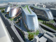 Very cool, organic structures:  Five Architecture Projects for China by Zaha Hadid Architects