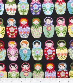 Novelty Cotton Print-Matryoshka Dolls