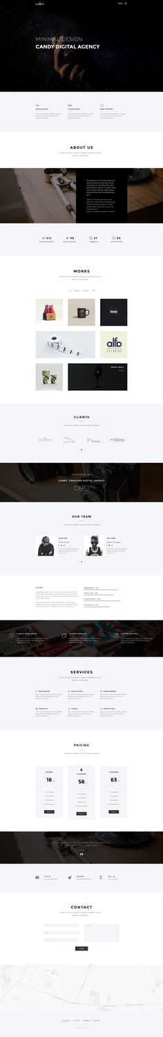 Candy | One Page PSD - PSD Templates | ThemeForest