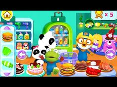 [HD] 아기 팬더 슈퍼마켓 놀이 with Pororo game 宝露露,Popolo, Пороро, ポロロ,เกาหลี