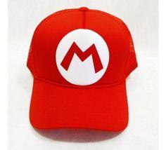 Boné - Trucker - Mario (Vermelho e Branco) 0bfc8aa53cf1d