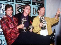 R.E.M. MTV Awards - Bill Berry, Mike Mills and Michael Stipe