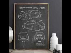 Tesla Model X Poster, Tesla Model S Poster, Tesla Patent, Car Enthusiast. Tesla Patents, Tesla Model X, Car Posters, Patent Prints, Metal Gear, Fig, Art Quotes, Garage, Decor