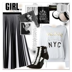 """""""New York City GIRL"""" by dragananovcic ❤ liked on Polyvore featuring Proenza Schouler, Bobbi Brown Cosmetics, W3LL People, NARS Cosmetics, Golden Goose, Casetify, Chantecaille, Deborah Lippmann and Puma"""