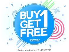 Buy 1 Get 1 Free, Sale poster design template, vector illustration Got 1, Buy 1 Get 1, Sale 50, Sale Poster, Selling Online, Interior Design Inspiration, Free Design, Royalty Free Stock Photos, Illustration