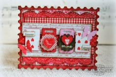 I made this card as a guest designer for Authentique Paper with their fabulous Smitten collection.