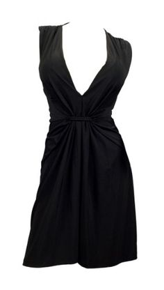 240024d5a83 Plus Size Sexy Black Low Cut V-Neck Mini Dress - 1X eVogues Apparel