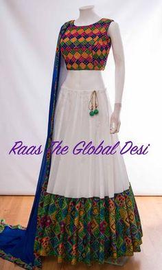 Chaniya Choli For Navratri Indian Fashion Dresses, Indian Gowns Dresses, Dress Indian Style, Indian Designer Outfits, Indian Outfits, Indian Wear, Indian Clothes, Pakistani Dresses, Half Saree Designs