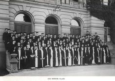 Graduating seniors at 1914 commencement.  From the 1916 Oregana (UO yearbook).  www.CampusAttic.com