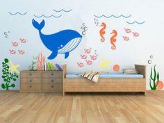 SALE Underwater Theme Kids Room Nursery Play Room by FabDecals, $89.00