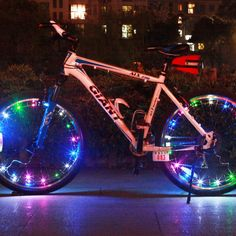 LumiParty Bike Light Cycling Spoke Wheel Light Bicycle Lamp Wheels MTB Light 20LED Bright Lamp Bike Accessories String Wire Lamp