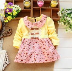 Find More Dresses Information about New 2014 Autumn Kids clothes Girls long sleeved t shirt Girls baby dress kids clothing dress chiffon top children's Lace flower,High Quality dress ruched,China flower ros Suppliers, Cheap flower bracelet from marymore Ltd. on Aliexpress.com