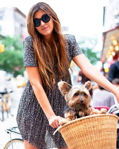 Oh I want to ride around with a puppy in my basket!