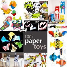 100+ paper toys
