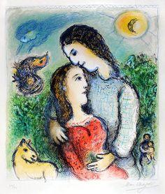 Marc Chagall - Les Adolescents, 1975 | 1stdibs.com