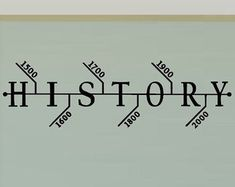 History Classroom Decals - Hisotry Teacher Decorations - Social Studies Class -Teacher Decorations Wall Decal - School Decal Timeline