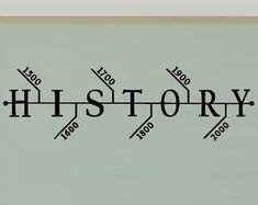 History Classroom Decals - Hisotry Teacher Decorations - Social Studies Class -Teacher Decorations  Wall Decal - School Decal Timeline