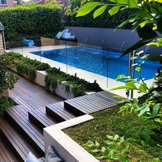 Stock Tank Swimming Pool Ideas, Get Swimming pool designs featuring new swimming pool ideas like glass wall swimming pools, infinity swimming pools, indoor pools and Mid Century Modern Pools. Find and save ideas about Swimming pool designs. Small Backyard Pools, Backyard Pool Landscaping, Backyard Pool Designs, Swimming Pools Backyard, Swimming Pool Designs, Pool Fence, Landscaping Ideas, Backyard Ideas, Pool Decks