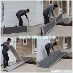 Portable Scooter Ramp from Discount Ramps is perfect for wheelchair or power chair access over stairs or loading into a van or minivan. Mobility scooter ramps fold to 1/4 their original size. Lengths from 5 to 10 feet.