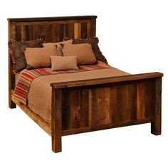 Fireside Lodge Barnwood Traditional Panel Bed - FIRE168