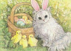 """Substitute Easter Bunny"" ~ Art by Lynn Bonnette: April 2011"