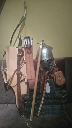 The equipment of an unspecified group of steppe nomads Larp Armor, Knight Armor, Medieval Armor, Vikings, Witch King Of Angmar, Varangian Guard, Warriors Standing, Viking Pattern, Ottonian