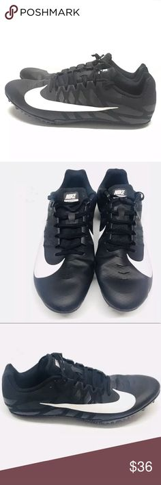 online store 413e3 a7114 🏃🏽 ♂️Nike Zoom Rival Size 11.5 Track   Field🔥 Nike Zoom Rival Size 11.5  Track Field Running Shoes Sprint Spikes Black and White There s cosmetic  flaws ...