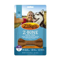 Zuke's Z-Bones Clean Apple Crisp Large Dental Chew Dog Treats - 6 ct. Pouch >>> More info could be found at the image url. (This is an affiliate link and I receive a commission for the sales) Dog Breath, Dog Ramp, Free Dental, Dog Bones, Zuko, Dog Snacks, Apple Crisp, Teeth Cleaning, Vitamins