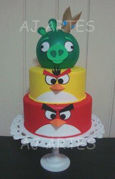 AJ Artes -  Bolo Falso Angry Birds