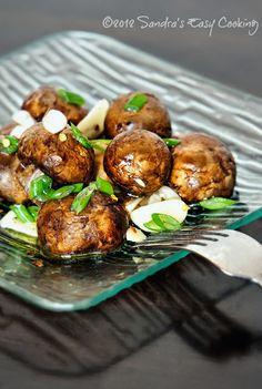 Marinated Mushrooms from @SECooking | Sandra