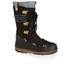 Now on www.flipflopsuk.co.uk  Moon Boot Monaco Felt Boots - Black!  #Boots #MoonBoot #wellies #Flipflops #Espadrilles #Havaianas #waterfriendly #comfort  #shoes  #cheap #sale #sandals #лето #мода #обувь #скидки #женскаяобувь #шлепанцы #сандалии #спорт #бассейн #море #пляж #каникулы #путешествие #отдых
