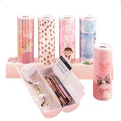 NBX Newmebox Students' Favorite Large Capacity Colorful Pencil Case Art Pen Box School Stationery Supplies with Boy Girl Gift Colored Pencil Case, Pencil Cases, App Promotion, School Stationery, Bts, Office And School Supplies, Girl Gifts, Students, Colorful