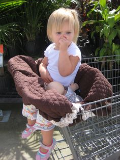 Shopping Cart Cover Tutorial - Handmade Baby Clothes