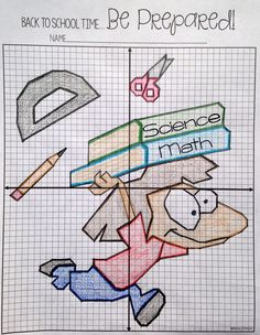 This back to school plotting points picture activity would be so fun for my Math students! They always love worksheets like this. It would give them some good coordinate graphing practice in all 4 quadrants.