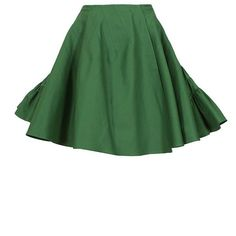Azzedine Alaïa green flounced wrap skirt ($2,360) ❤ liked on Polyvore featuring skirts, bottoms, saia, gonne, green, cotton wrap skirt, green wrap skirt, wrap skirt, ruffle skirt and cotton skirt
