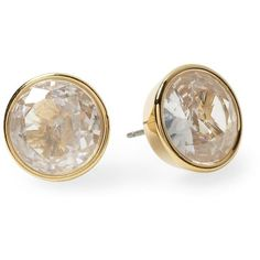 Michael Kors Crystal Stud Earring ❤ liked on Polyvore featuring jewelry, earrings, accessories, brincos, gold, crystal jewelry, clear earrings, clear jewelry, michael kors jewelry and michael kors earrings