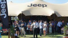 Setting the scene, Jeep's safari-style marquee at Doomben