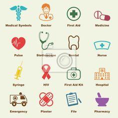 Papier peint Éléments médicaux