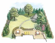 Enticing And Romantic Landscape (HWBDO11020) | House Plan from BuilderHousePlans.com