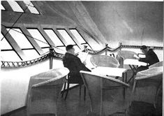 Relaxing on an airship