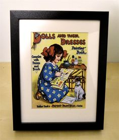 Children's Victorian Dolls And Their Dresses Framed Print
