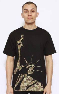 Akomplice, Liberty Camo T-Shirt - Black