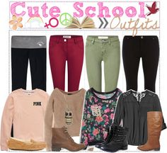"""Cute School Outfit"" by gold-tip-girl ❤ liked on Polyvore"