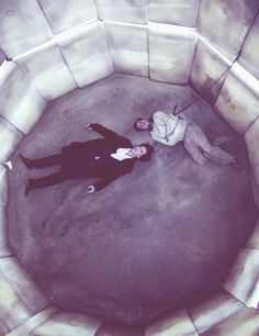 Just a friendly reminder: Sherlock's mind palace works in a way that he can only have a place in his mind if he's been there, so in this scene where we see Moriarty, that means that Sherlock was once in a padded cell. >> THAT IS NOT FRENDLY