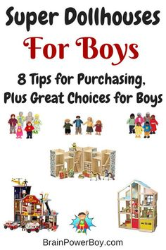 Pick the perfect dollhouse for your boy. 8 tips that will help you make a wise choice, plus houses that will stand up to a bit of rough play.
